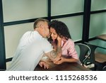 i love you. romantic kiss.... | Shutterstock . vector #1115268536