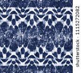 folk ornament indigo dyed... | Shutterstock . vector #1115272082