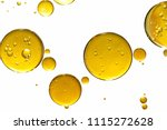 golden yellow bubble oil ...