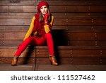 young brunette woman portrait...   Shutterstock . vector #111527462