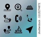 vector icon set about location... | Shutterstock .eps vector #1115274872