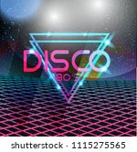 retro style 80s disco design... | Shutterstock .eps vector #1115275565