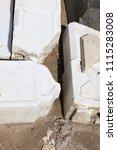ancient slavic stones in the... | Shutterstock . vector #1115283008