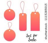 vector labels for sale set | Shutterstock .eps vector #1115285015