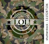 lol  on camo pattern | Shutterstock .eps vector #1115287136