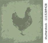 chicken icon vector design | Shutterstock .eps vector #1115289428