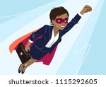 young african american... | Shutterstock .eps vector #1115292605