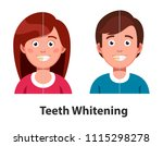 smiling man and woman before... | Shutterstock .eps vector #1115298278