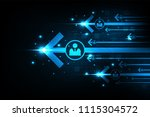 fast and modern internet... | Shutterstock .eps vector #1115304572