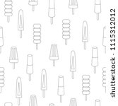 vector illustration  seamless... | Shutterstock .eps vector #1115312012