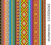 seamless ethnic traditional... | Shutterstock . vector #1115326262