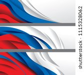 Russia Flag Color Abstract...