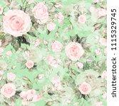 watercolor seamless pattern of... | Shutterstock . vector #1115329745