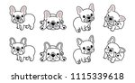 dog vector french bulldog logo... | Shutterstock .eps vector #1115339618