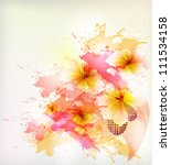 flower in  colorful ink... | Shutterstock .eps vector #111534158