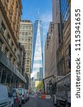 manhattan  new york usa   may 3 ... | Shutterstock . vector #1115341655