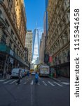 manhattan  new york usa   may 3 ... | Shutterstock . vector #1115341658