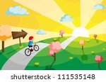 a vector illustration of a kid... | Shutterstock .eps vector #111535148