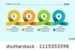four points process chart slide ... | Shutterstock .eps vector #1115353598