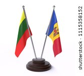 lithuania and moldova  two... | Shutterstock . vector #1115358152