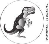 dinosaur vegetarian ... | Shutterstock .eps vector #1115358752