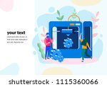 concept 3d printing finished...   Shutterstock .eps vector #1115360066