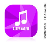 alternative music violet square ...   Shutterstock .eps vector #1115362802