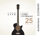banner with an acoustic guitar...   Shutterstock .eps vector #111536345