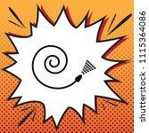 garden hose sign. vector.... | Shutterstock .eps vector #1115364086