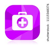 first aid kit flat vector icon. ...   Shutterstock .eps vector #1115368376