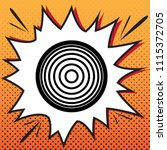 meridians from top view. vector.... | Shutterstock .eps vector #1115372705