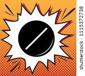 pill sign illustration. vector. ... | Shutterstock .eps vector #1115372738
