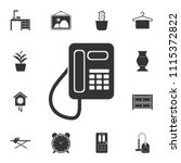 fixed telephone icon. simple... | Shutterstock .eps vector #1115372822
