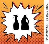 household chemical bottles sign.... | Shutterstock .eps vector #1115374802