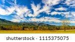 a smoky mountain autumn... | Shutterstock . vector #1115375075