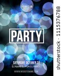 night dance party music poster... | Shutterstock .eps vector #1115376788