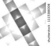abstract grunge grid polka dot... | Shutterstock .eps vector #1115388308