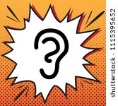 human anatomy. ear sign. vector.... | Shutterstock .eps vector #1115395652