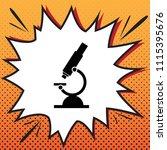 chemistry microscope sign for... | Shutterstock .eps vector #1115395676