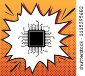 cpu microprocessor illustration.... | Shutterstock .eps vector #1115395682