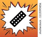 medical pills sign. vector.... | Shutterstock .eps vector #1115395856