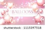 Elegant Pink Flying Balloons...