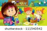 the cartoon kindergarten   fun... | Shutterstock . vector #111540542