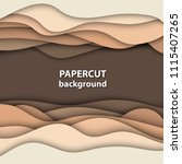 vector background with brown... | Shutterstock .eps vector #1115407265
