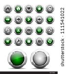 set of plastic buttons for web. ... | Shutterstock .eps vector #111541022