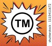 trade mark sign. vector. comics ... | Shutterstock .eps vector #1115411672