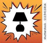 lamp sign illustration. vector. ... | Shutterstock .eps vector #1115411816