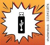 usb flash drive sign. vector.... | Shutterstock .eps vector #1115411876