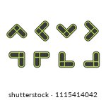 set icon arrow symbol  vector... | Shutterstock .eps vector #1115414042