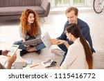 promising numbers. top view of... | Shutterstock . vector #1115416772